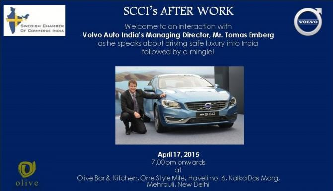 After Work cum Interaction with Volvo Auto India's Managing Director Mr. Tomas Ernberg